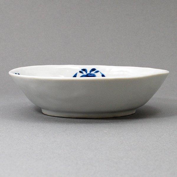 四つ花丸文楕円皿