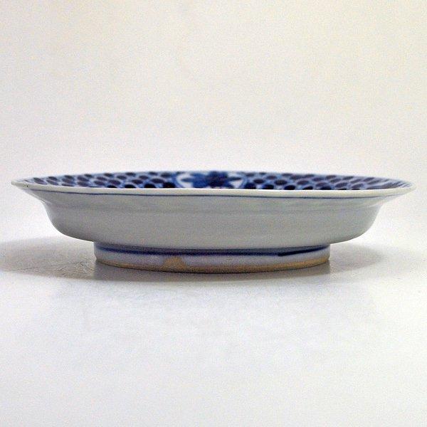 子鹿文青海波5寸皿