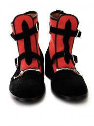Peterpan Boots/Red×Bk Suede