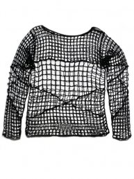 Damage Fishnet Shirt