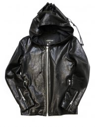 Leather Big Hoodie