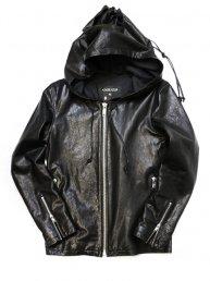Leather Big Hoodie