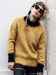 LIBBIT Mohair sweater 2018.Ash Yell×Bk