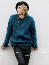 LIBBIT Mohair sweater 2018.London Blue