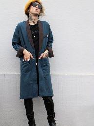 Edward Gown Shirt Bk×Vintage Blue