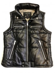 Leather DownVest. 2019