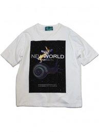 -NEW WORLD-宇宙カタツムリT-シャツ