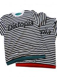 -Distopia-ボーダーT-シャツ