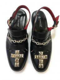 Leather Studs Sandal