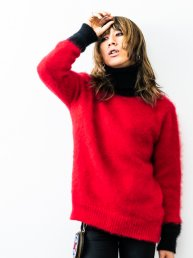 LIBBIT Mohair sweater 2019/ TOKKURi.Bk×Red