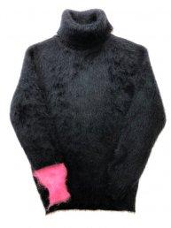 LIBBIT Mohair sweater 2019/ TOKKURi.Bk×Pink×Wht