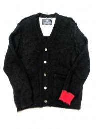Libbit Mohair Cardigan/Bk×Wht×Red<img class='new_mark_img2' src='https://img.shop-pro.jp/img/new/icons2.gif' style='border:none;display:inline;margin:0px;padding:0px;width:auto;' />