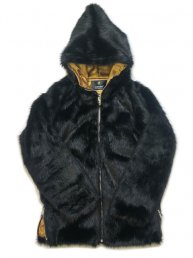 Big Hood Fur Jacket/ Black