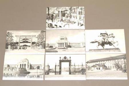 絵はがき☆東京名所【国立博物館・国会図書館・他】 7枚☆(送料込み)
