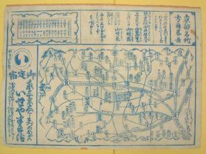 ★京都名所方角略図
