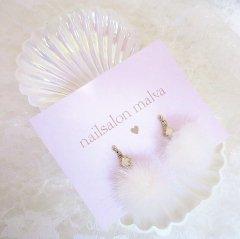 《White》ファーピアス ~fur pierce~
