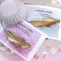 ゴールドフェザーバレッタ ~gold feather barrette~