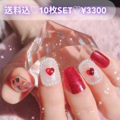 送料込♡10枚SET♡ネイルチップ036
