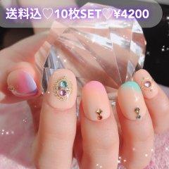 送料込♡10枚SET♡ネイルチップ049