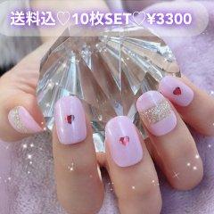 送料込♡10枚SET♡ネイルチップ073