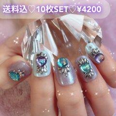 送料込♡10枚SET♡ネイルチップ084
