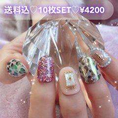 送料込♡10枚SET♡ネイルチップ087