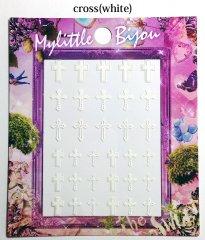 Mylittle Bijou(クロス、ホワイト) - 森絵里香プロデュースネイルシール