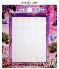 Mylittle Bijou(クロス、クリーム) - 森絵里香プロデュースネイルシール