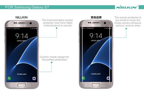 【ネコポス送料無料】Galaxy S7 強化ガラスフィルム ナノコーティング 硬度9H  [7]