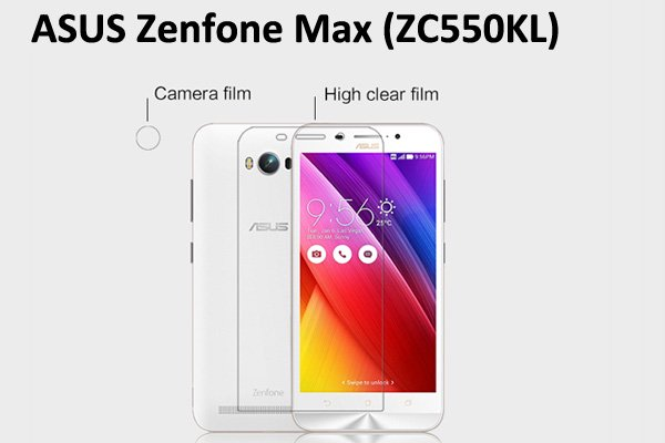 【ネコポス送料無料】Zenfone Max  (ZC550KL) 液晶保護フィルムセット クリスタルクリアタイプ [1]