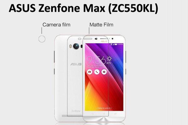 【ネコポス送料無料】Zenfone Max  (ZC550KL) 液晶保護フィルムセット アンチグレアタイプ [1]