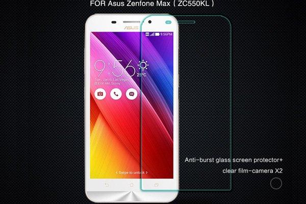 【ネコポス送料無料】Zenfone Max  (ZC550KL)  強化ガラスフィルム ナノコーティング 硬度9H  [1]