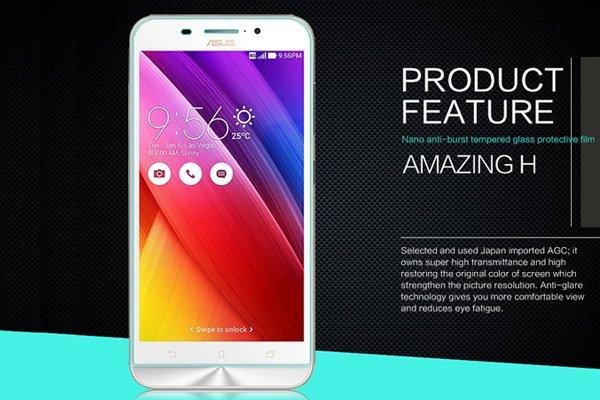 【ネコポス送料無料】Zenfone Max  (ZC550KL)  強化ガラスフィルム ナノコーティング 硬度9H  [2]
