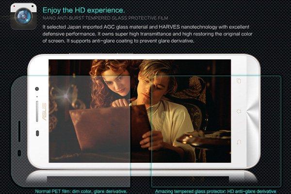 【ネコポス送料無料】Zenfone Max  (ZC550KL)  強化ガラスフィルム ナノコーティング 硬度9H  [3]