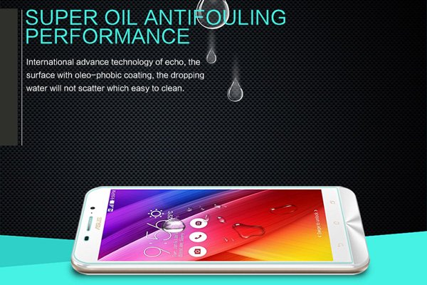 【ネコポス送料無料】Zenfone Max  (ZC550KL)  強化ガラスフィルム ナノコーティング 硬度9H  [5]