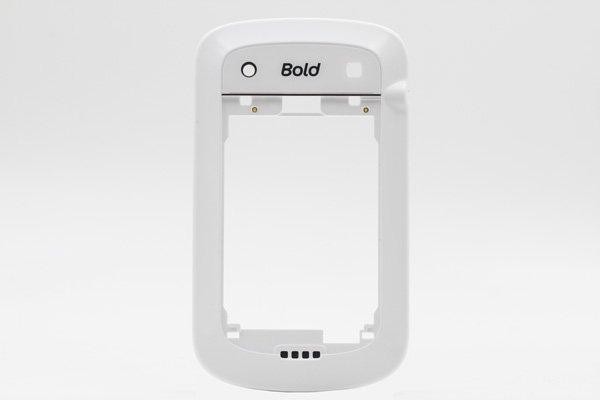 【ネコポス送料無料】Blackberry bold 9900 ミドルケース ホワイト [1]