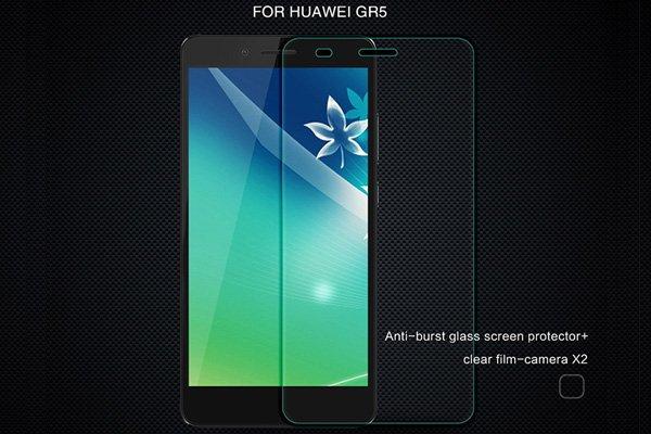 【ネコポス送料無料】HUAWEI GR5 強化ガラスフィルム ナノコーティング 硬度9H  [1]