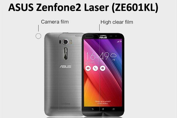 【ネコポス送料無料】Zenfone2 Laser (ZE601KL) 液晶保護フィルムセット クリスタルクリアタイプ [1]