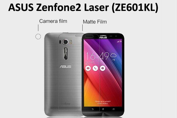 【ネコポス送料無料】Zenfone2 Laser (ZE601KL) 液晶保護フィルムセット アンチグレアタイプ [1]