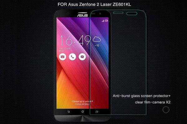 【ネコポス送料無料】Zenfone2 Laser (ZE601KL) 強化ガラスフィルム ナノコーティング 硬度9H  [1]