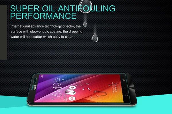 【ネコポス送料無料】Zenfone2 Laser (ZE601KL) 強化ガラスフィルム ナノコーティング 硬度9H  [5]