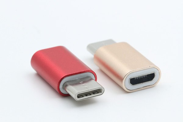 【ネコポス送料無料】USB 2.0 Micro B(メス) to TypeC 変換アダプタ 全4色 [2]