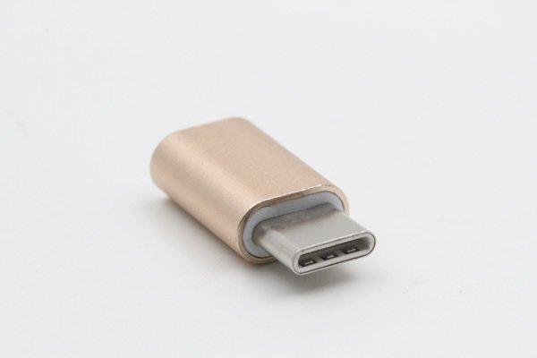 【ネコポス送料無料】USB 2.0 Micro B(メス) to TypeC 変換アダプタ 全4色 [3]