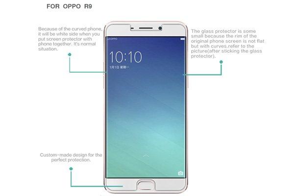 【ネコポス送料無料】OPPO R9 強化ガラスフィルム ナノコーティング 硬度9H [7]