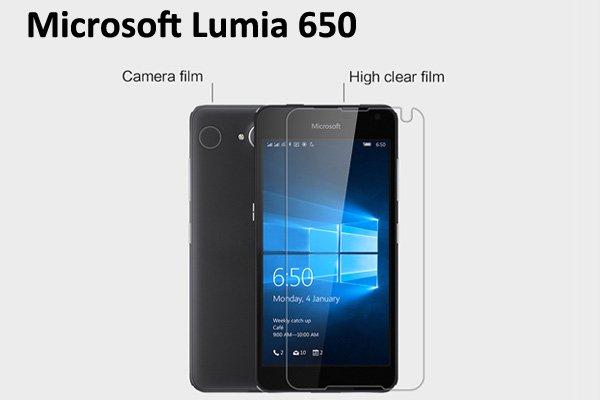 【ネコポス送料無料】Microsoft LUMIA650 液晶保護フィルムセット クリスタルクリアタイプ  [1]