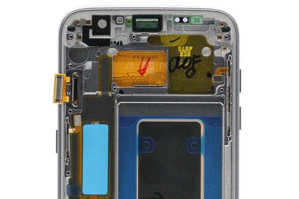 Galaxy S7 Edge (SM-G935F) フロントパネルASSY ブラック [3]
