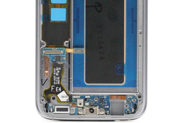 Galaxy S7 Edge (SM-G935F) フロントパネルASSY ブラック [4]