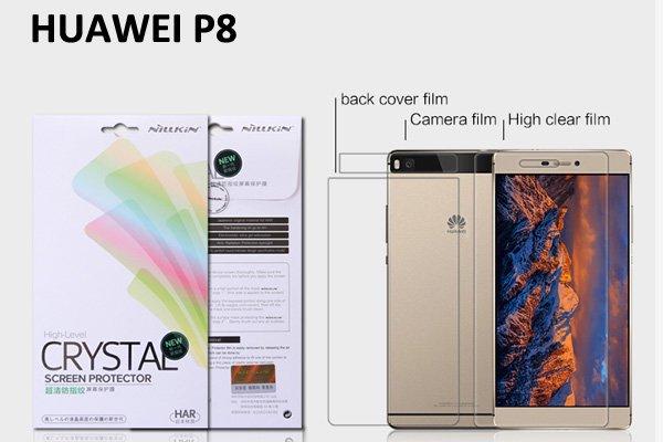 【ネコポス送料無料】Huawei P8 液晶保護フィルムセット クリスタルクリアタイプ [1]