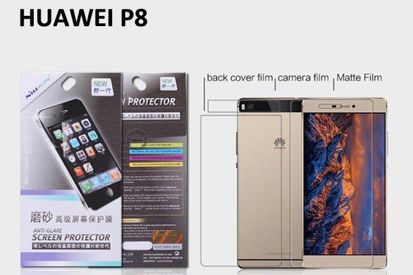 【ネコポス送料無料】Huawei P8 液晶保護フィルムセット アンチグレアタイプ  [1]