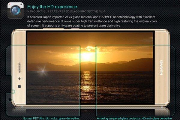【ネコポス送料無料】Huawei P9 強化ガラスフィルム ナノコーティング 硬度9H  [2]